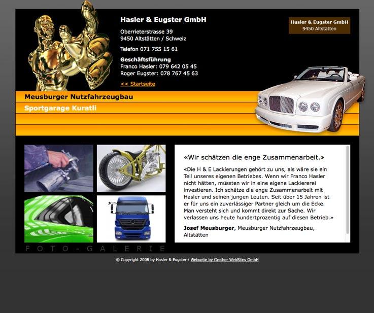 Stl. Gallen im schicken Webdesign